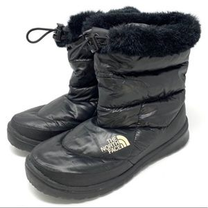 The North Face Black Down Insulated Nuptse Boots 9